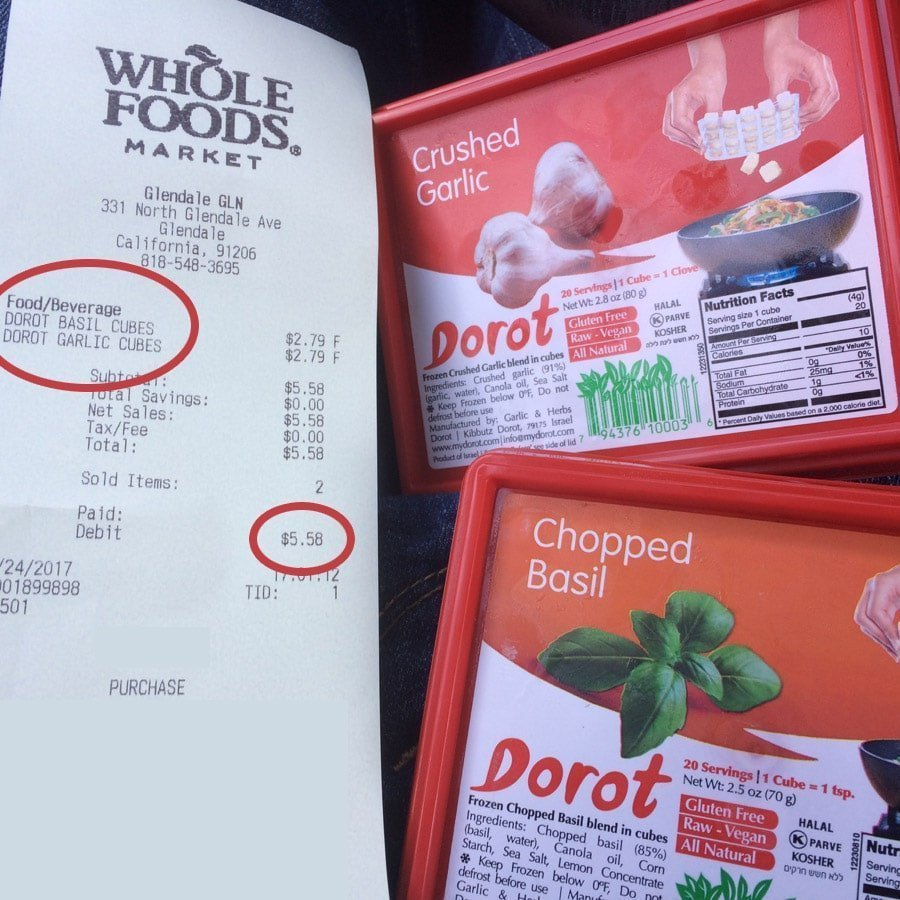 dorot basil and garlic receipt cheap herbs